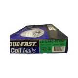 Nails Coil 00D Hot Dipped Galvanised 52x2.5mm Dome Head Ring Shank D42300 DuoF bx1800