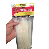 Cable Tie 200x4.8mm Neutral pk100