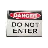 "Sign ""Danger Construction Site Do Not Enter"" 600x450mm Poly pk1"