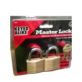 Padlock Solid Brass 40mm with Key pk2