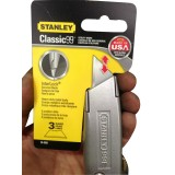 Knife Blade Retractable Classic 99 with 3 BlaDesign Silver pk1