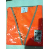 Vest High Vis with Reflective Tape Velcro Clos Orange Largee pk1