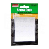 Cap Screw Stick-On White Cd100 O904831 pk1