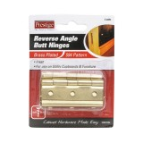 Hinge Butt Fixed Pin Brass  50mm pk20
