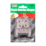 Hinge Flush Overlay FB Suit 19-21mm Door WBT0001 pk1