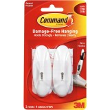 Hook Adhesive White  Medium Command 17001 pk2