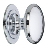 Door Knob Premium Brass Satin Chrome 38mm 1714053 pk1