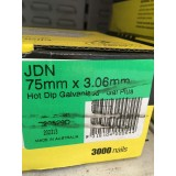 Nails JDN Hot Dipped Galvanised 75x3.06mm Dome Head B20529D bx3000