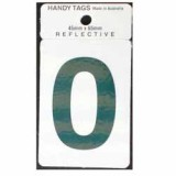 Numeral Green 45x65mm No 0 H250 pk1
