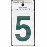 Numeral Green 45x65mm No 5 H255 pk1