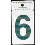 Numeral Green 45x65mm No 6 H256 pk1