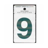 Numeral Green 45x65mm No9 H259 pk1