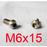 Screw Zinc Plated M 6x15 Hex Head Cap Head bx8