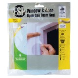 Window Seal Foam 12x12mmx2.5m White CM14BWH pk1