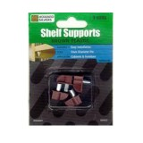 Shelf Support Brown Plastic Metal Pin Cd4 WSD0001 pk1