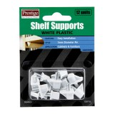 Shelf Support White Plastic Metal Pin 12 pieces O904929 pk1