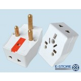 Adaptor Socket Bc White 3a D9WE pk1