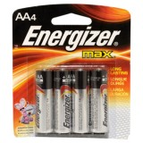 Battery Alkaline AA Max E91BP4 pk4