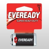 Battery Black Super Heavy Duty 9V 1222BP1 pk1