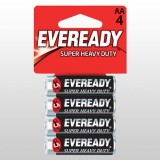 Battery Black Super Heavy Duty AA 1215BP4 pk4