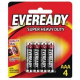 Battery Black Super Heavy Duty AAA 1212BP4 pk4
