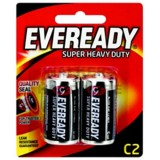 Battery Black Super Heavy Duty C 1235bp2 pk2