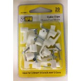 Clip Cable 15mm Flat DQ011 pk20