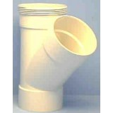Pipe 100mmx 45Deg Junction DWV Plain Female Female pk1