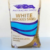 Sand Bush/Brickies White 20kg Bag WBS20 pk1