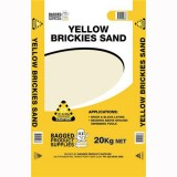 Sand Bush/Brickies Yellow 20kg Bag YBS20 pk1