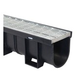 Easydrain C/W Galvanised Punched Grate 1m 83432 pk1