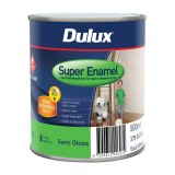 Paint Super Enamel Semi Gloss White  500ml pk1