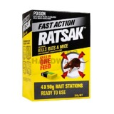 Pesticide Ratsak One Shot 4x50g pk4