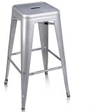 Chair Bar Stool Tolix Matt Sliver 76cm 283100S pk1
