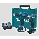 Kit 18V 2 pieces Drill and Driver Impact with Accessory DLX2014 pk1